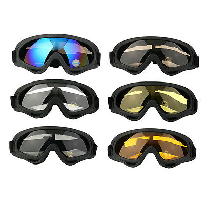New Motorcycle ATV Dirt Bike Off Road Adult Goggles Glasses Eyewear Clear QG