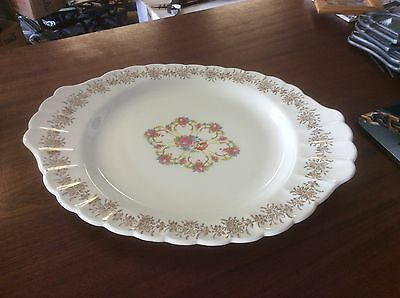 Vintage American Limoges Fortune Oval Plater ITC-S264X 22K Gold