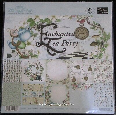 "Couture Creations 'ENCHANTED TEA PARTY' 12x12"" Paper Pk 24 Sheets Card Making"
