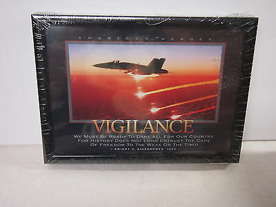 New Vigilance Picture Quote Nicely Framed & Matted