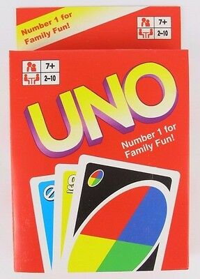 Tranditional UNO CARDS Family Fun Playing Card Educational Theme Board Game