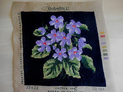 Tapestry Gobelin 23.166 Germany Worked Finished Unframed Flowers