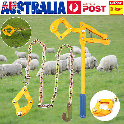 Heavy Duty Wire Fence Strainer Plain & Barbed Chain Fencing Repair Tool 1.2M AU