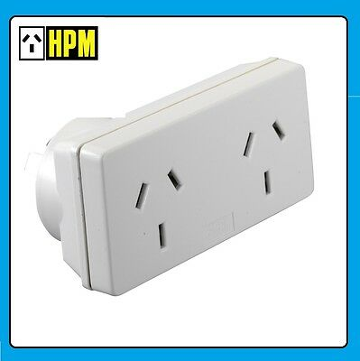 2 x HPM 2400W Power Double Adapter 240v 10amp  Adaptor pack of 2