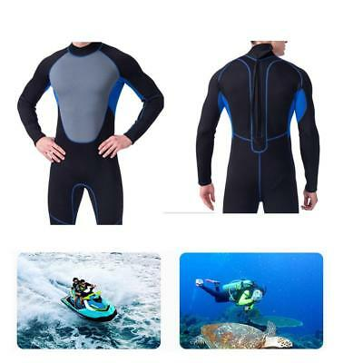 Men Wetsuit Full Stretch Back Zip Suit Diving Swimming Surf Snorkel Spearfishing