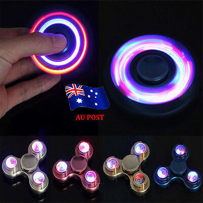 Led Fidget Finger Hand Spinner Light Up Glow Led 27 Designs Edc Focus Stress