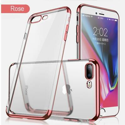 Bumper Shockproof Slim Thin Cover Plating Soft TPU Case For iPhone 7 8 plus X