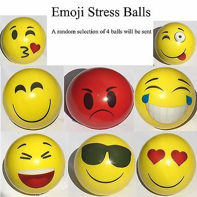 Emoji Stress Balls (random 4) anxiety frustration toy office relief party bags