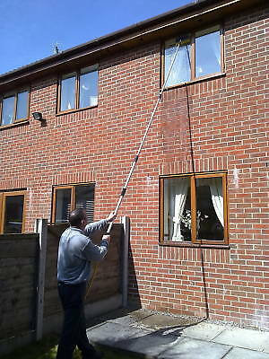 16Ft Water Fed Window Cleaning Pole Cleaner Telescopic Extension Extendable Kit