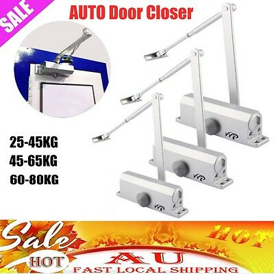 Home Adjustable Auto Door Closer Fire Rated 25~80KG Suit Inward & Outward 3 Size