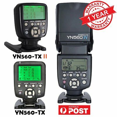 YONGNUO YN-560 IV Wireless Speedlite Flash + YN560-TX Controller For Canon AU