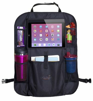 Car Back Seat Organizer For Kids - Touch Screen Pocket for Android & iOS Tablets