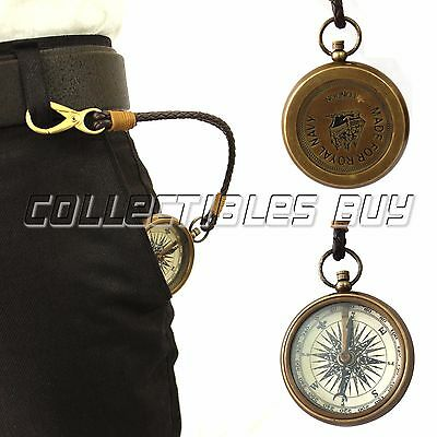Vintage Made For Royal Navy Compass Leather Pendant Fashion Necklace Gift Item
