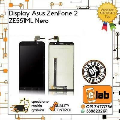 Display Touch Screen Lcd Per Asus Zenfone 2 Ze551Ml Z00Ad Nero Vetro Schermo