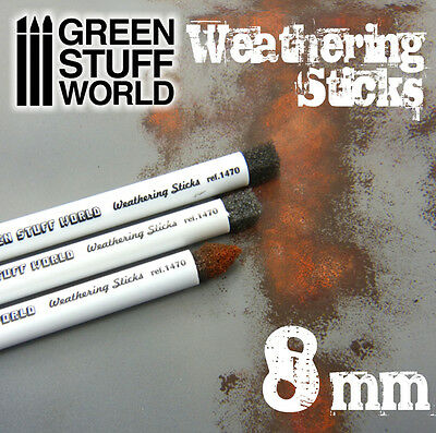 Weathering Brushes 8mm - Sponge for Oxide, Mud, Aging Effects - Paint Pigment