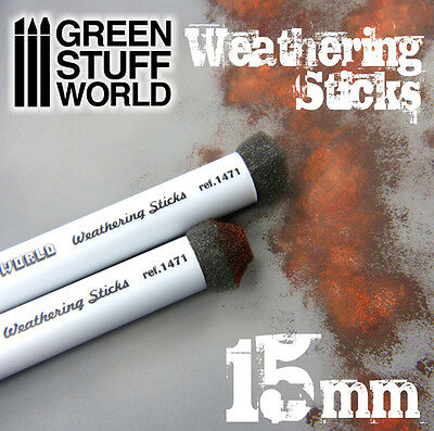 Weathering Brushes 15mm - Sponge for Oxide, Mud, Aging Effects - Paint Pigment