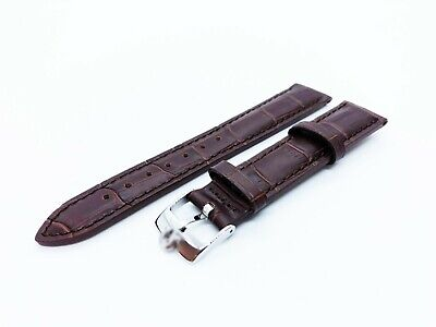 Brown Genuine Leather Strap/Band fit OMEGA watch 18mm 19mm 20mm Buckle/Clasp
