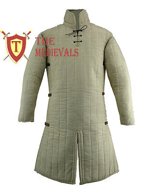 Medieval Thick Padded Gambeson costumes suit of armor  for theater larp / sca