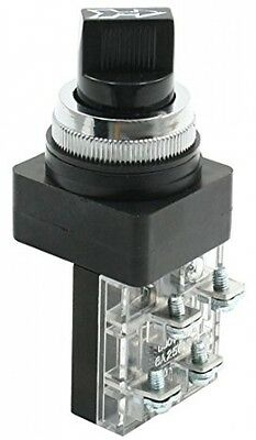 250VAC 6A DPST NC/NO 3 Position Self Locking Rotary Push Button Switch