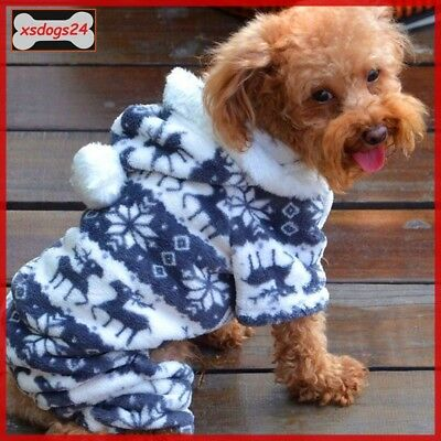 Hunde Overall Anzug Pullover Kapuze Welpe Mantel Weste Chihuahua 4 Gr. S- M-L-XL