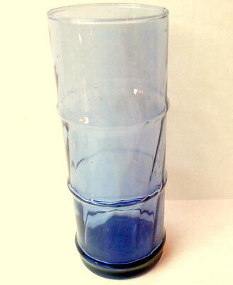Bamboo Drinking Glass Tiki Libbey Blue  Glassware