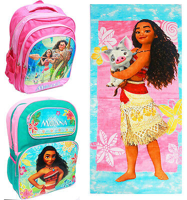 New Kids Backpack School Bag Boys Girl Towel Disney Moana Picnic Bags Bath Beach