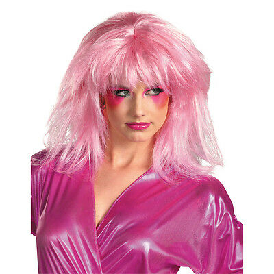 Jem & The Holograms Jem Costume Wig Adult: Pink One Size Fits Most