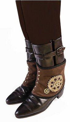Steampunk Gear Spats Costume Accessory Adult
