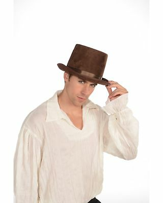 Steampunk Costume Top Hat Adult: Brown One Size