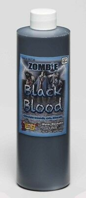 Zombie Black Blood - One Pint Costume Makeup Accessory