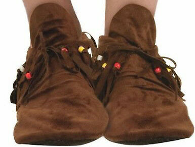 Hippie Native American Ladies Costume Moccasin Womens 7-10