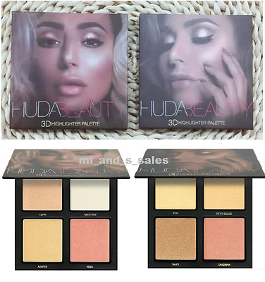 HUDA BEAUTY 3D HIGHLIGHTER PALETTE Make Up 2017 Edition 2 styles to choose - UK