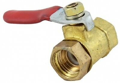 Red Lever Handle 11mm Female To Female Thread Brass Gas Ball Valve