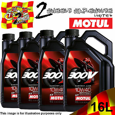 1L 2L 3L 4L 8L 12L 16L Motul 300V 10W40 Factory Line Road Racing Ester Core Oil