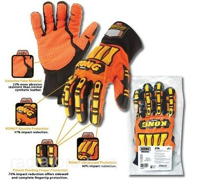 Ironclad Kong Safety Work Gloves Slip & Oil Resistant Large