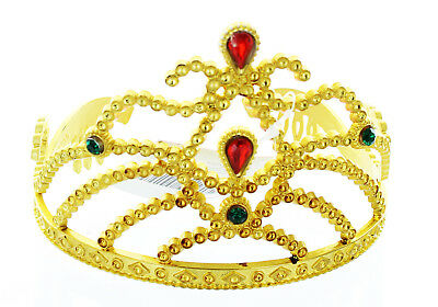 Golden Costume Tiara With Colored Stones Child