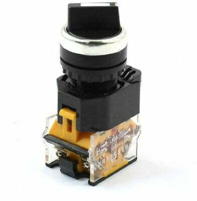 Panel Mount 2 Position Latching DPST Rotary Cam Switch 380V 10A