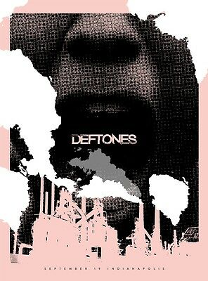 "DEFTONES 18x24"" Illustrated Concert Poster INDIANAPOLIS"