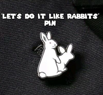 Fashion Easter Bunny Rabbit Pin Sex Lapel Gag Gift 59-10
