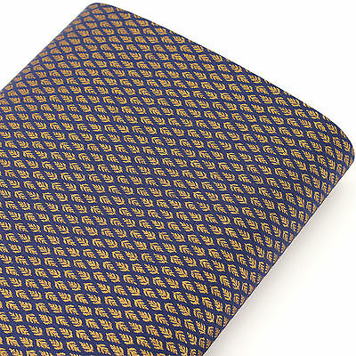 Japanese Cotton Fabric by FQ Traditional Gold Bird Feather Leaf Tree Leaves J158