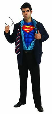 Superman Clark Kent Muscle Chest Costume Jacket Adult One Size Fits Most