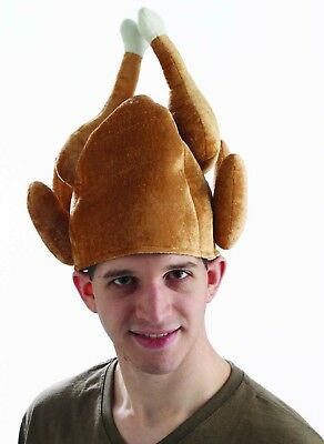 Thanksgiving Roasted Turkey Costume Hat Adult One Size