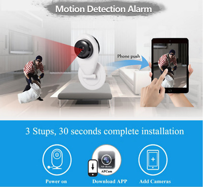 Telecamera Wifi P2P Ip Mini Camera Videosorveglianza Senza Fili Interno Motion