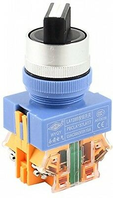 660V 10A 3 Selector Position Self Locking 1NO+1NC DPST Rotary Switch