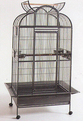 NEW Large Wrought Iron Open Dome Play Top Parrot Macaw Cockatoos Bird Cage 248