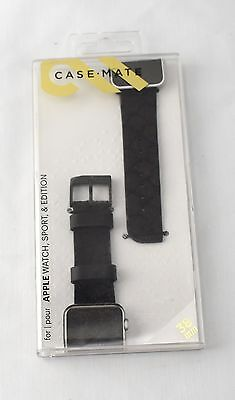 Case-Mate Scaled Leather Band for Apple Watch 38mm CM032787 - 1055GA