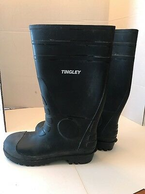 TINGLEY Oversock Boots, Mens, Size 12, Black