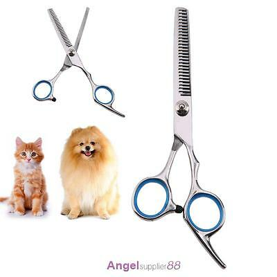 "7""Professional Pet Dog Grooming Scissors Straight&Curved&Thinning Shears steel"