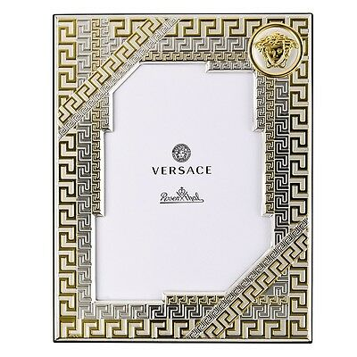 "Versace  By Rosenthal, Germany ""vhf1"" Gold Photo Frame 7"" X 9 1/2"""