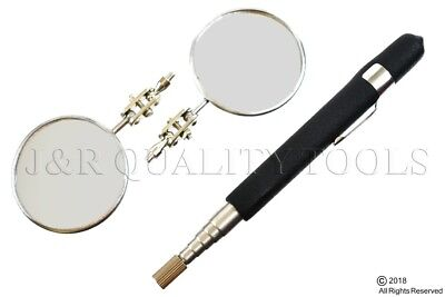 """2pc 2-1/4"""" W/ Replaceable Inspection Mirror"""